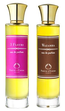 3 Fleurs e Wazamba, le nuove creazioni di Parfum d'Empire