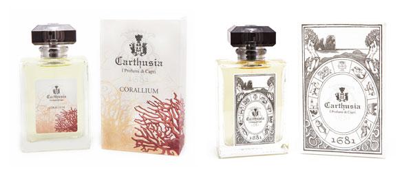 Corallium e 1681. I nuovi profumi di Carthusia