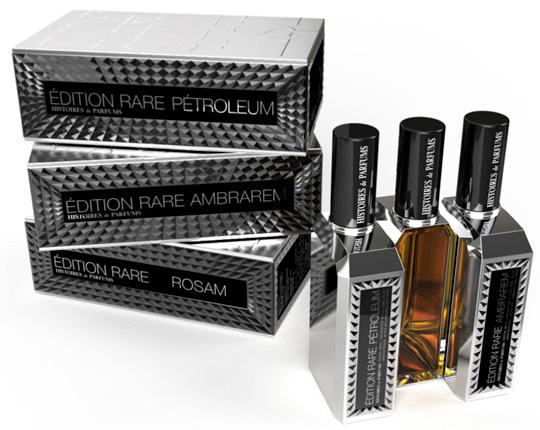 Petroleum, Ambrarem e Rosam. La black trilogy di Histoires de Parfums