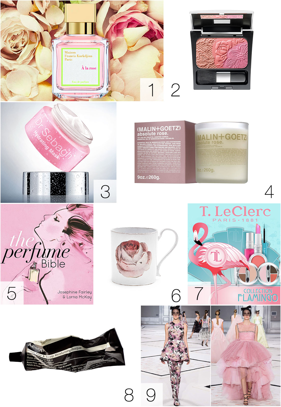 love for beauty nove sfumature di rosa