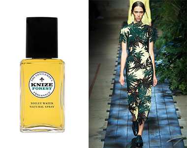 Scent in Vogue #9 Knize Forest, Erdem P/E 2015