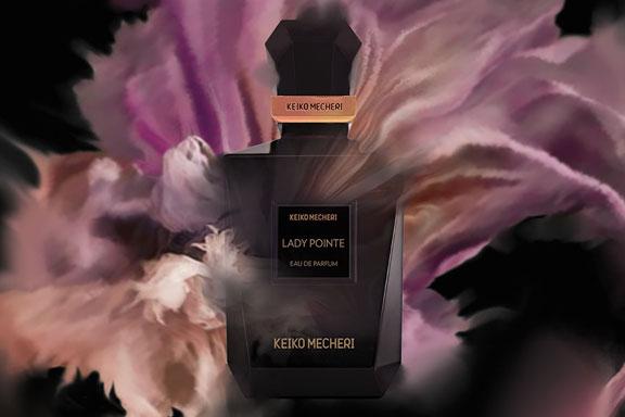 Lady Pointe. Il nuovo profumo di Keiko Mecheri sale sulle punte per danzare tra fiori e note di pelle