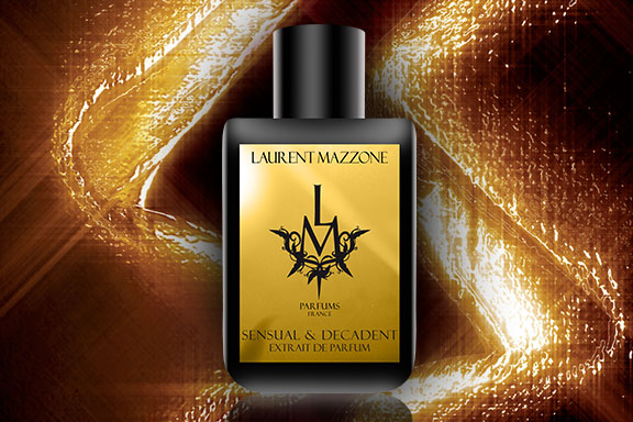Sensual & Decadent. Sfumature gilded e note effetto shimmer per l'extra-ordinary parfum di Laurent Mazzone