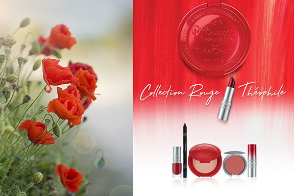 Collection Rouge Théophile. La primavera T.LeClerc si colora di rosso papavero