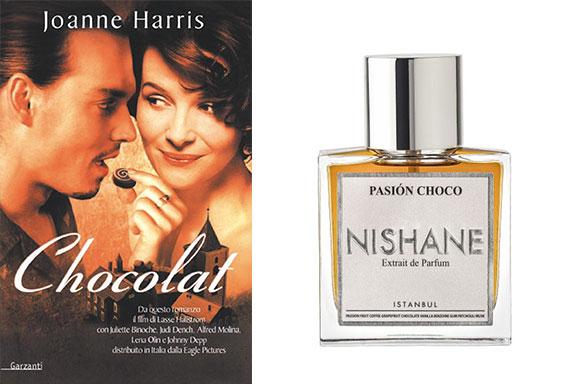La scia calda di Pasión Choco (Nishane) incontra le pagine di Chocolat (Joanne Harris)