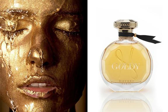 Goldy. Hayari Paris veste la femminilità di scintillii dorati