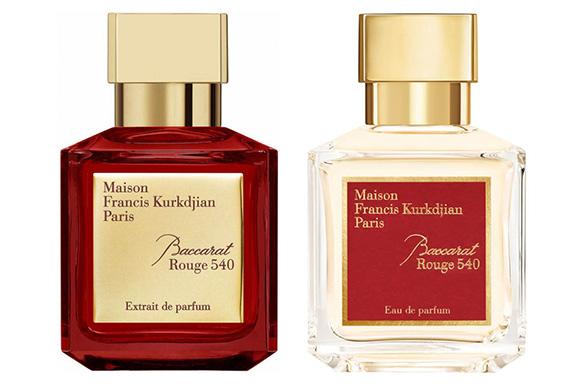 Baccarat Rouge 540 (Extrait vs. Eau de Parfum). Il cremisi e il bianco di Maison Francis Kurkdjian